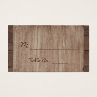 Barn Wood and Birch Country Wedding Place Cards