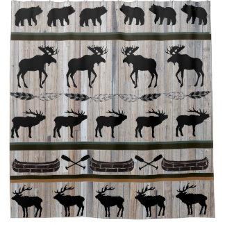 Barn Wood Background Cabin Blanket Design Shower Curtain