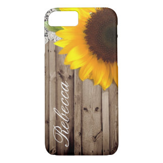 barn wood lace rustic country sunflower iPhone 8/7 case