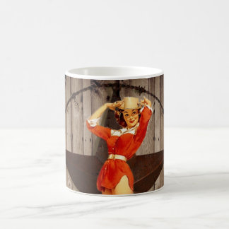 Barn wood Lone Star western country Cowgirl Coffee Mug