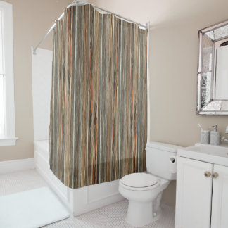 Barn Wood Print Rustic Country Western Shower Shower Curtain