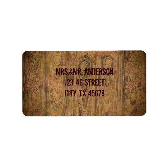 Barn wood Rustic Country cowboy Wedding Label