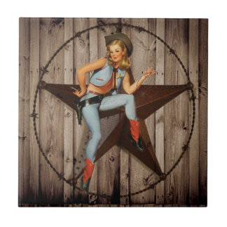 Barn Wood Texas Star western country Cowgirl Tile