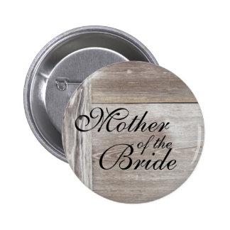 Barn wood wedding button