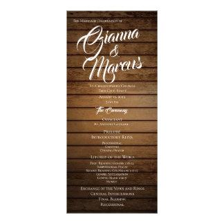 Barn Wood Wedding Program Rack Card