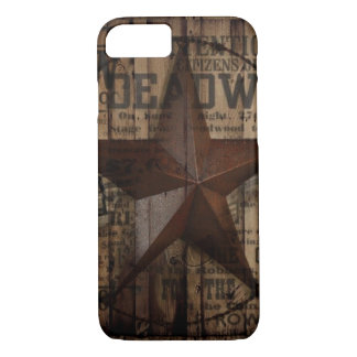 Barn Wood western country Texas Lone Star iPhone 8/7 Case