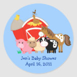 BARN YARD Baby Shower or Birthday Favour Stickers