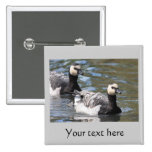 Barnacle Goose 15 Cm Square Badge