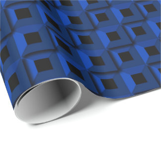 Barnacles in Blue Wrapping Paper