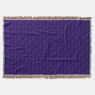 Barnacles in Dark Blue Throw Blanket
