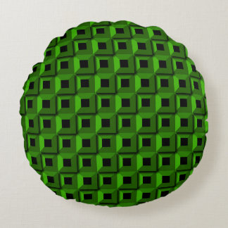 Barnacles in Green Round Pillow