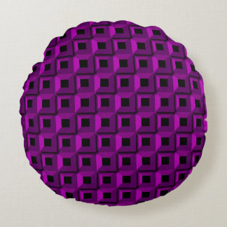 Barnacles in Purple Round Pillow