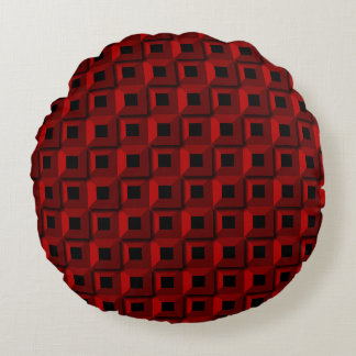 Barnacles in Red Round Pillow