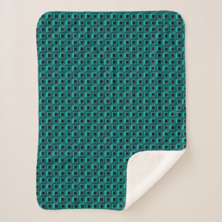 Barnacles in Turquoise Sherpa Blankets