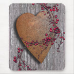 Barnboards Rusted Heart Mousepads