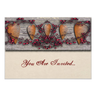 Barnboards Rusted Hearts Personalized Announcements