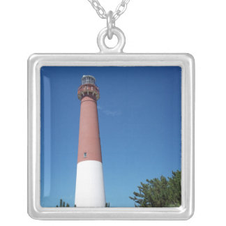 Barnegat Lighthouse Old Barney Square Pendant Necklace