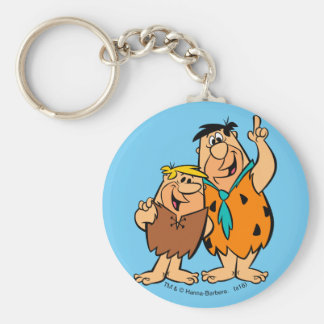 Barney Rubble and Fred Flintstone Key Ring
