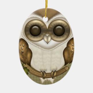 Barney The Barn Owl Oval Ornament