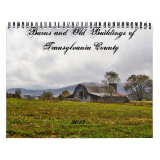 Barns and Old Buildings in Transylvania County Wall Calendars