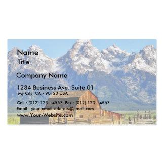Barns Grand Tetons Mountains Business Card Templates