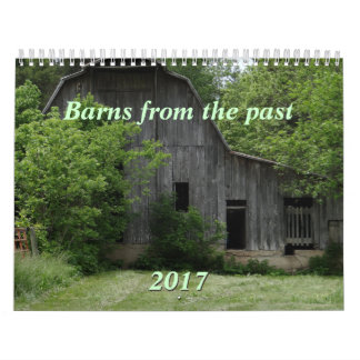 Barns of the Past 2017 Calendar-can change year Wall Calendar
