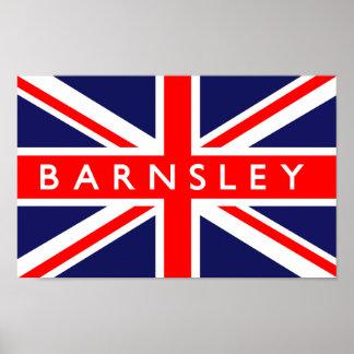 Barnsley UK Flag Poster
