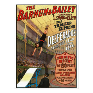 Barnum and Bailey Desperado's Leap for Life Postcard