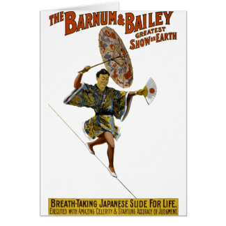 Barnum and Bailey: Japanese Tight-rope Walker Card