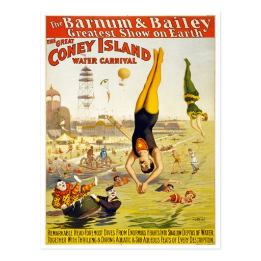 Barnum & Bailey Coney Island Water Carnival Post Cards