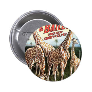 Barnum & Bailey Giraffes Retro Theater Buttons