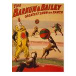 Barnum & Bailey - Marvellous Football Dogs Post Card