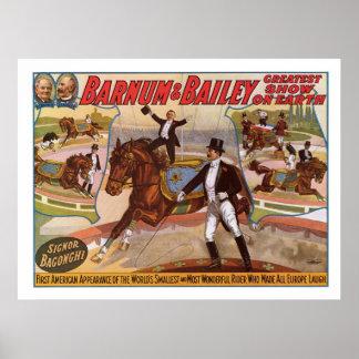 Barnum & Bailey Smallest Rider Advertisement Poster