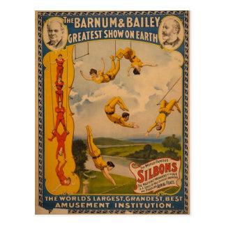 Barnum & Bailey / Trapeze Artists Postcard