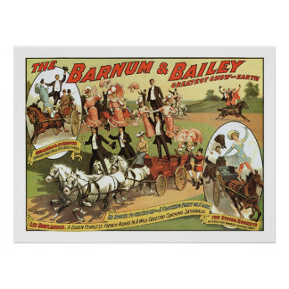 Barnum & Bailey Trick Riders Advertisement Poster