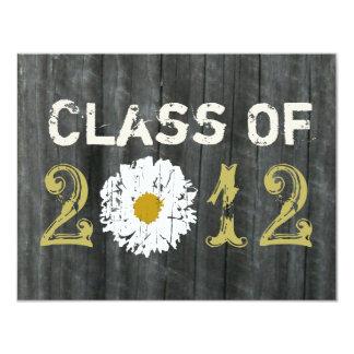 Barnwood and Daisy Graduation Class Of 2012 11 Cm X 14 Cm Invitation Card
