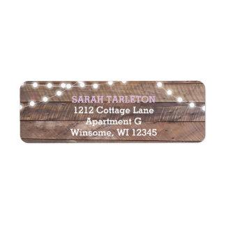 Barnwood Lights Lilac Return Address Label