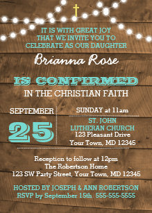 Country Confirmation Invitations