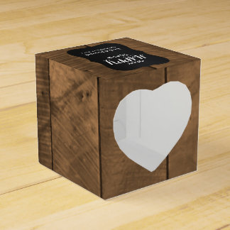 Barnwood Mini Wedding Tissue Boxes