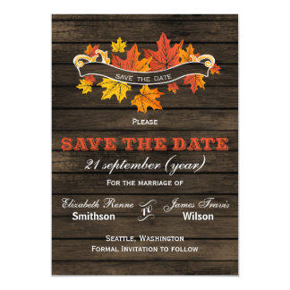 Barnwood Rustic Fall wedding save the date Magnetic Invitations
