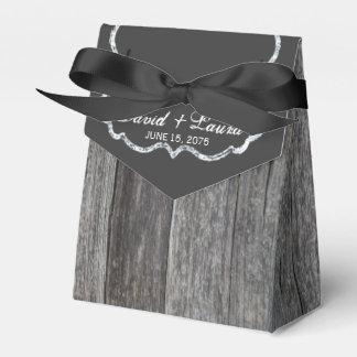 Barnwood Wedding Favor Box