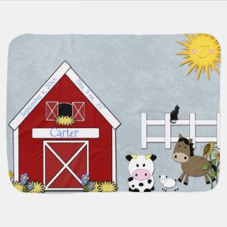 Barnyard Animals, Farm,  Custom Pramblankets