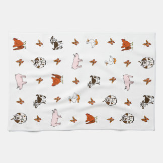 Barnyard Animals Tea Towel