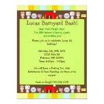 Barnyard Bash 6.5x8.75 Paper Invitation Card
