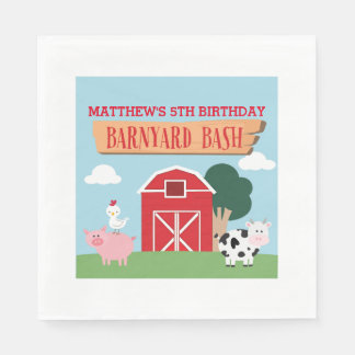 Barnyard Birthday Bash/Party Disposable Napkin