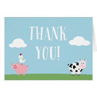 Barnyard Birthday Party/Bash Thank You Card