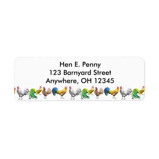 Barnyard Chickens Label