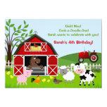 Barnyard Farm Animals Birthday Party Invitations 13 Cm X 18 Cm Invitation Card