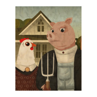 Barnyard Gothic Wood Wall Decor
