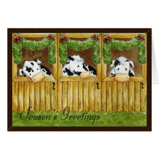 Barnyard Grapevine Season's Greetings Card